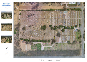 [picture of Echuca cemetery map]